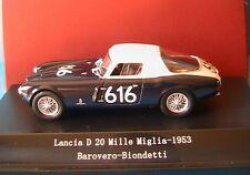 atLANCIA D20 #616 1000 MIGLIA 1953 BAROVERO BIONDETTI STARLINE 518420 1/43 MILLE