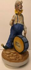 """Musical Wind Up Clown Playing Drum """"It's A Small World"""""""