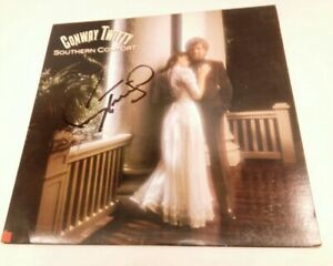 CONWAY TWITTY SOUTHERN COMFORT SIGNED AUTOGRAPHED LP ALBUM RECORD COUNTRY MUSIC