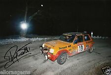 "World Rally Championship Driver Jean Ragnotti Hand Signed Photo 12x8""  AC"