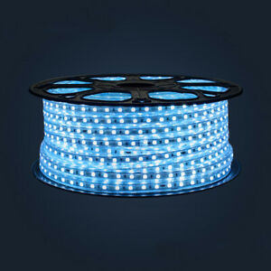 Blue 220V 60Leds/m SMD5050 LED Strip Flex Tape Rope Light Outdoor Decor 1-5m