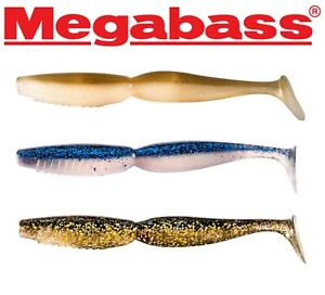 Megabass Spindle Worm 10cm 12.5cm Shad Paddle Tail Bass Wrasse Cod Lure Fishing