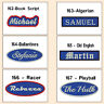"Name Tag 5"" Custom Embroidered Sew On & Iron On Blue Personalised Biker MC Club"