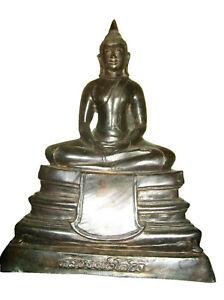 Perfect! Antique Very Big LP Sothon Statue Top Rare Ancient Buddha Amulets Thai