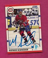 RARE CANADIENS MATHIEU SCHNEIDER AUTOGRAPH CARD (INV# 8048)