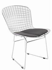 Silla de comedor estilo Bertoia Side asiento blanco o negro