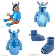Disney Store Stitch Baby Bodysuit Costume & Shoes Outfit Set Sz 12 18 months NWT