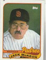 FREE SHIPPING-MINT-1989 Topps #624 Jack McKeon Padres PLUS BONUS CARDS