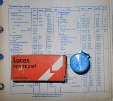 NOS Lucas Starter 54038121 / SRB400.  Triumph TR7 & TR8--