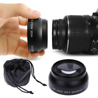 52MM 0.45x Fish Eye Wide Angle Macro Lens for Nikon D70 D3200 D3100 D5200 D5100