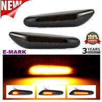 2/4PCS Smoke LED Side Marker Indicator Light For BMW E90 E91 E92 E93 E60 E87 E46
