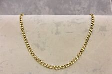 9CT SOLID GOLD FINE QUALITY ROUND CURB STYLE NECKLACE/CHAIN 9.5gr