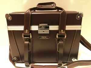 【Exc+5】 Vintage Etsumi Synthetic Leather Camera Bag From Japan 19345