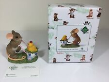 charming tails figurine Easter Taking A Stroll With My Cute Chick New Enesco