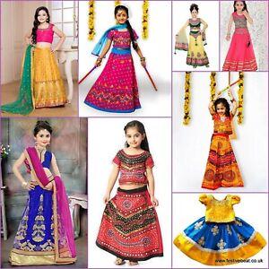 KIDS LEHANGA Chaniya CHOLI GIRLS ethnic traditional Indian bollywood dress skirt
