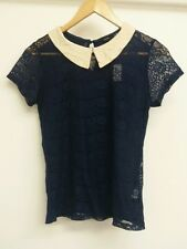 Atmosphere Blue Top Size 8 Lace BNWT <J4204
