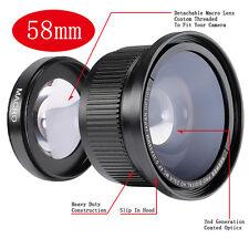 Neewer 58mm 0.35x Lente de Gran Ángulo y Ojo de pez para Canon EOS 1100D 1000D