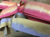 """Vintage 1940's Cotton  Rayon 1 1/8"""" Petersham handdyed Ribbon 1yd Made in France"""