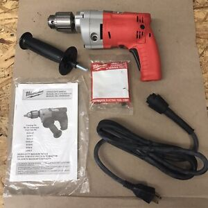 """Milwaukee 1/2"""" Magnum Drill Driver Variable Speed Hole Shooter Corded 5.5 Amp"""