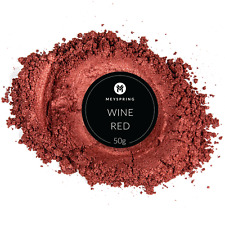 MEYSPRING Wine Red Mica Powder for Epoxy - Two Tone Resin Color Pigment