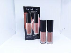 BAREMINERALS MEET GEN NUDE Matte Liquid Lipcolor &  Buttercream Lip Gloss~BNIB
