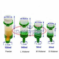 New listing 1x Automatic Food Water Bird Seeds Feeding Drinker Parrot Pet Dispenser Cage Kit