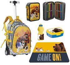 set Pets Vita da Animali zaino Trolley astuccio 3zip box merenda scuola bambino