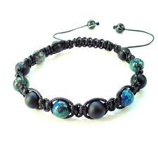 mens bracelet Onyx Lapis shamballa stone jewelry braided cuff wristband gift men