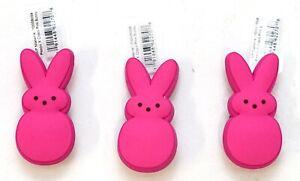 New Peeps X Crocs Pink Bunny Jibbitz Set Of 3 Crocs Shoe Charms