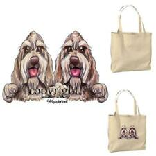 Spinone Italiano Dog Buddies Pair Cartoon Artist Canvas Market Grocery Tote Bag