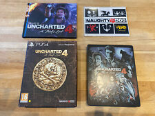 Uncharted 4 Special Edition Game, Steelbook, Artbook, Stickers Playstation 4 PS4