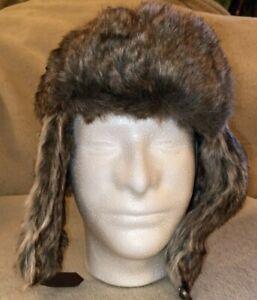 Goodfellow & Co. Faux Fur Trapper Hat W/Ear Flaps NWT.             Brown 44FA026