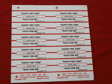 Monclairs~ Happy Feet Time~ Wait For Me~ Sunburst~ Jukebox Title Strips
