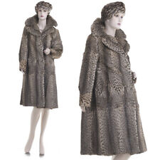 Mint! Ultra Lux, Sexy, Sensuous, Cat Spot Stenciled/Printed Mink Fur Coat w/Hat