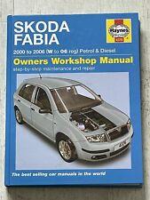 Haynes Manual 4376 - Skoda Fabia, 2000 to 2006, petrol & diesel