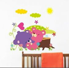 Cartoon bears  wall decal sticker baby nursery girl boy home decor
