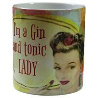 Retro Gin Mug, 1950s Style Gin, Retro Gin, Gin Retro, Pin Up Lady.
