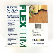 "FlexTrim Self-Stick Vinyl Wall Base True White 4"" x 20'"
