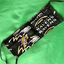 M265 NFL Baltimore Ravens Face Mask Covering Handmade from Licensed Fabric New