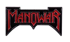 More details for manowar enamel pin badge - 1980s heavy metal - retro band pin