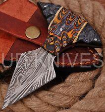 UD CUSTOM HANDMADE 1095 DAMASCUS STEEL  FULL TANG HUNTING KNIFE 9469
