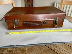 Vintage suitcase small brown