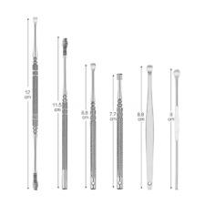 6 PC Ear Wax Removal Kit Gehörgang Safe Reinigungswerkzeuge Edelstahl Set