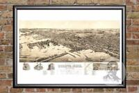 Vintage Duluth, MN Map 1893 - Historic Minnesota Art - Old Victorian Industrial