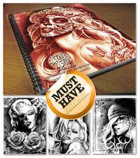 Tattoo Flash Libros Steve Soto Diseños « Diablo Angels Nuevo Sellado! PVP £ 55!