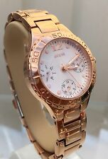 Ladies Guess rose gold plated bracelet watch Multi Dial (p95)