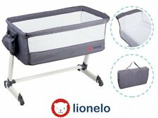 BABY Crib Bedside Cot bed Lionelo Theo Dark Grey Mattress Mosquito Next to Me