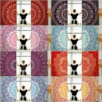 Hippie Mandala Tapestry Door Cutain Ombre Cotton Indian Decor Window Curtains