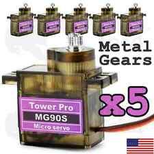 5 x TowerPro MG90S Hobby Servo Kits with Metal Gears
