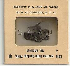 WWII US 35mm Recognition Slide Negative- Artillery Tank- M8 75mm Howitzer- Rear